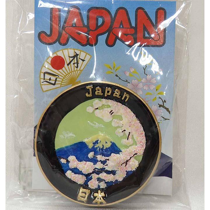 飾り皿マグネット 桜に富士 0-143
