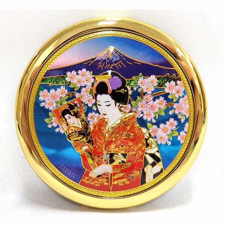 彫金 コンパクト 桜 羽子板 927
