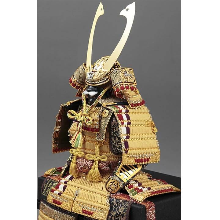 四神大鎧飾り 正絹緋糸褄取縅8号  70GC-04_2