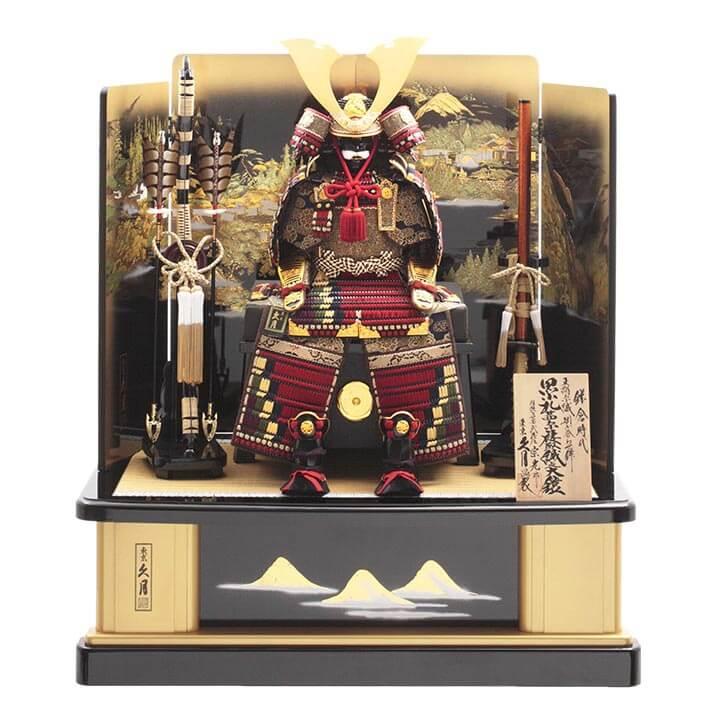 中村宗光作 大鎧飾り 正絹茜糸褄取縅10号 71HC-24