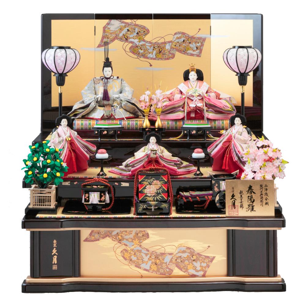 木製五人飾り 70HC-24