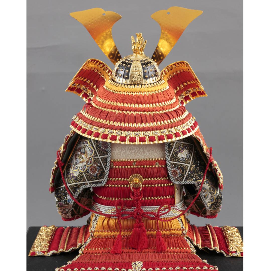 大鎧飾り 正絹赤糸裾濃縅10号  71GC-23_2