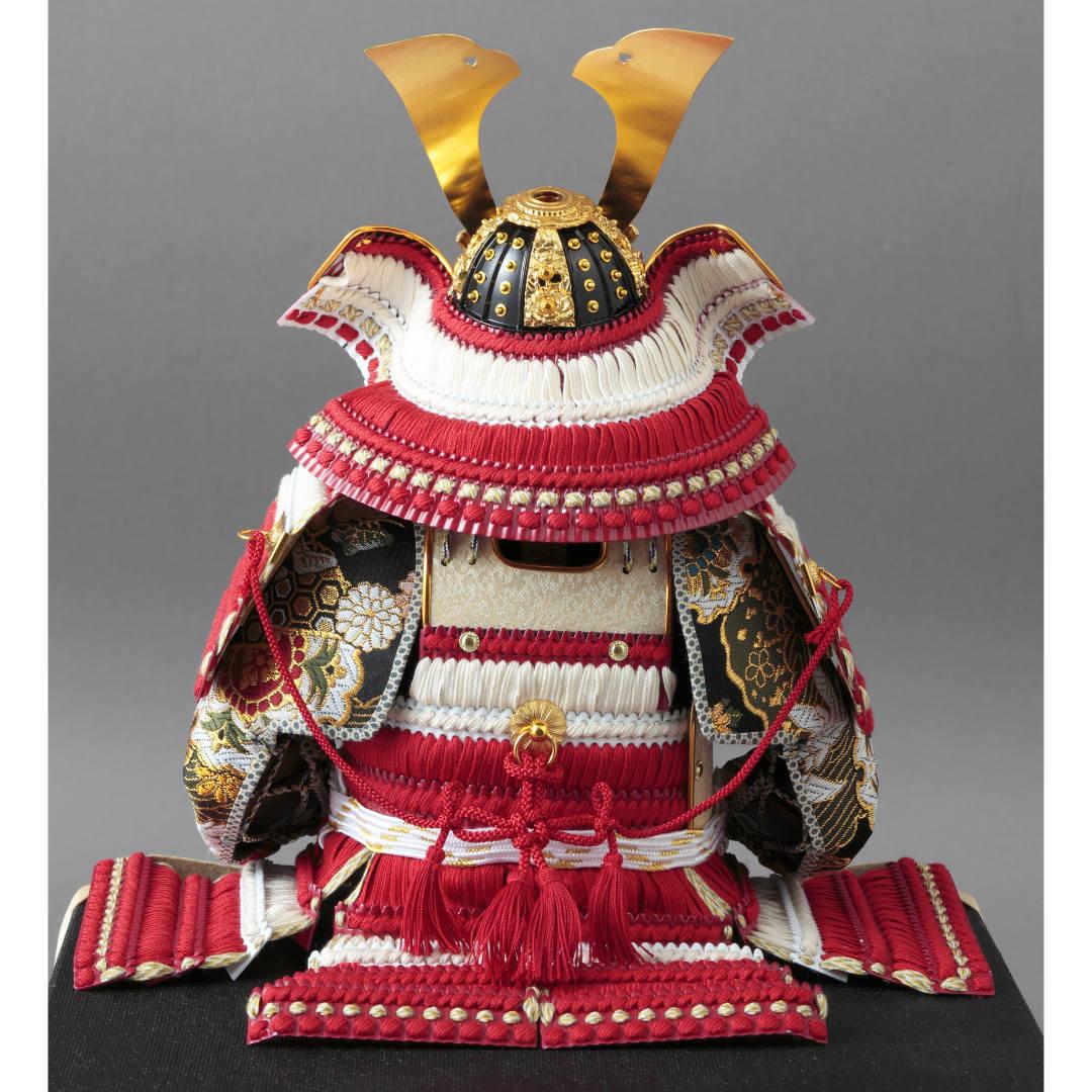 大鎧飾り 正絹紅白縅7号  70GC-18_2