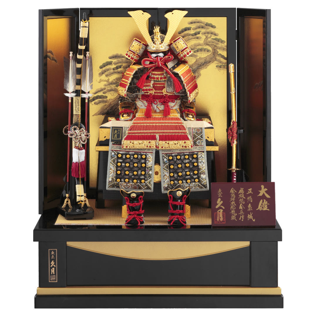 大鎧飾り 正絹赤糸裾濃縅10号  70GC-20_1
