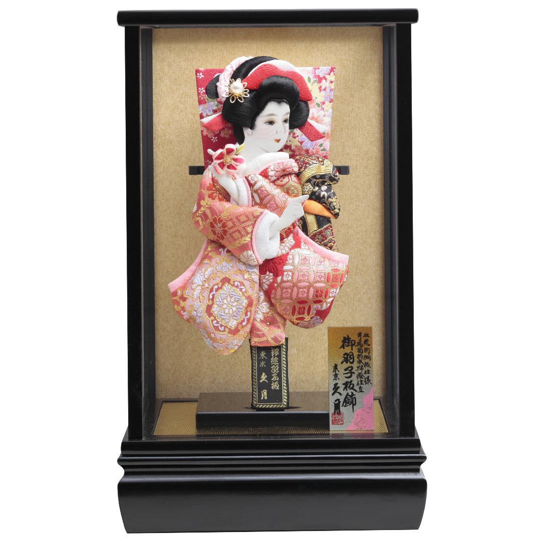 羽子板飾り 金襴振袖 黒塗ケース 71EH-01