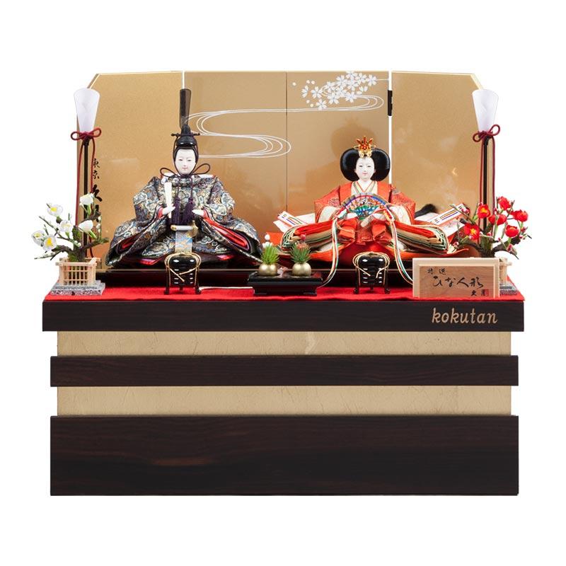 黒檀 収納親王飾り 71HC-08