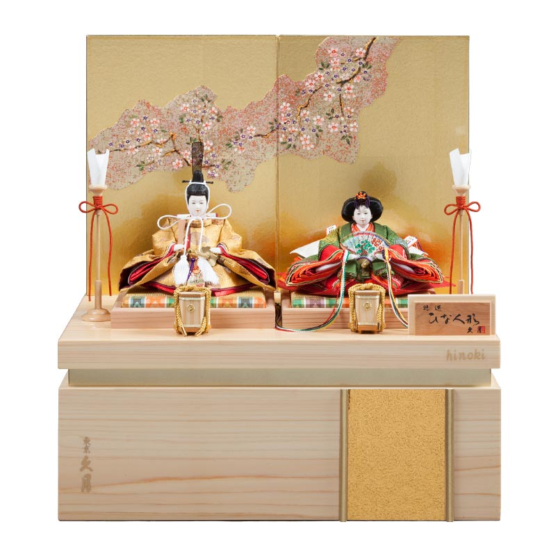 檜 収納親王飾り 71HC-09